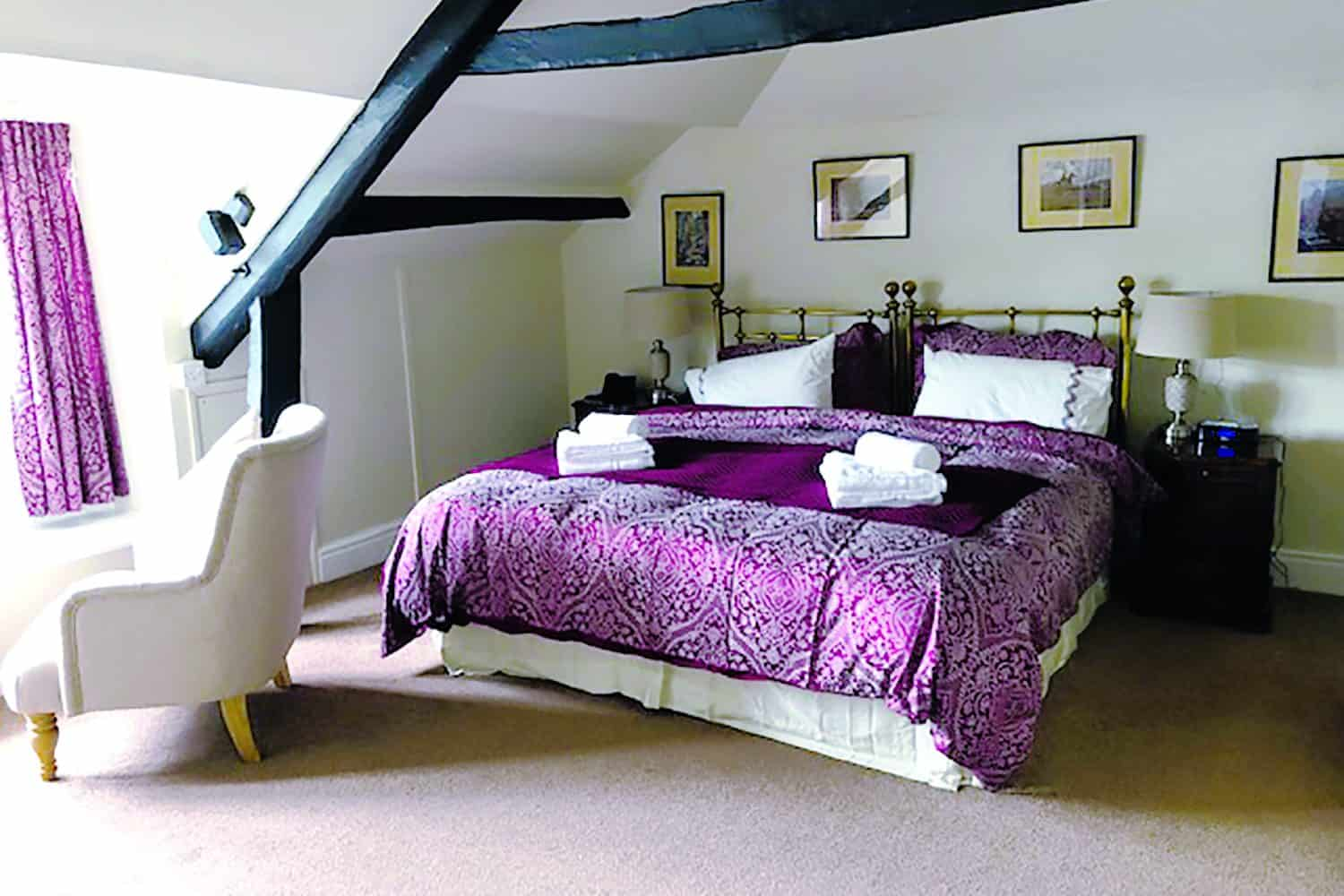 Bedrooms at The Royal Oak, Withypool