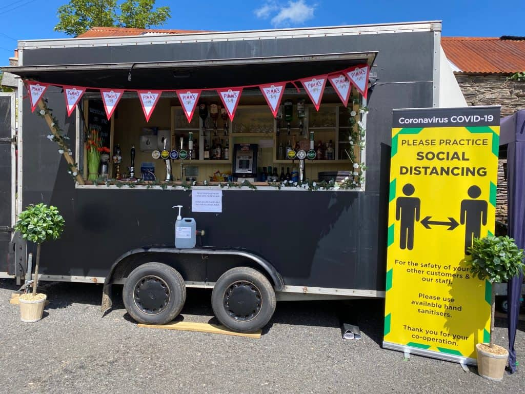 Mobile bar for hire Withypool