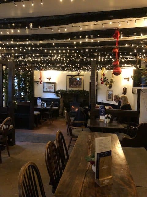 Festive bar area Royal Oak Withypool