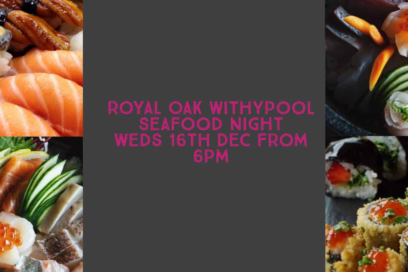 Seafood Night at The Royal Oak Inn Withypool