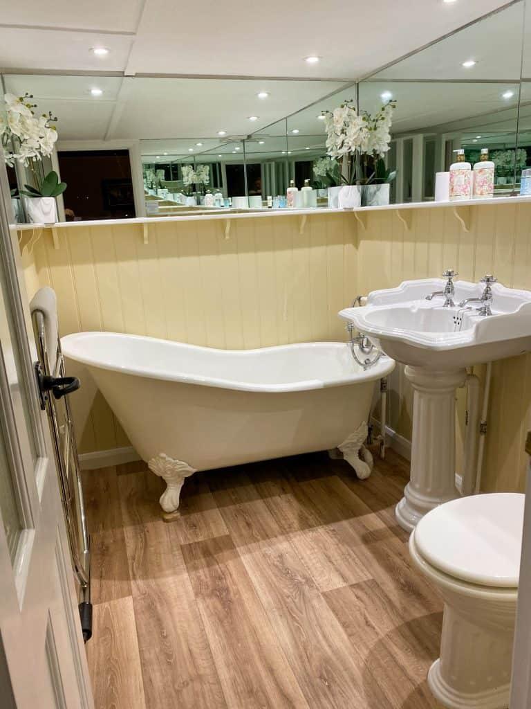 Luxury bathroom suite on Exmoor