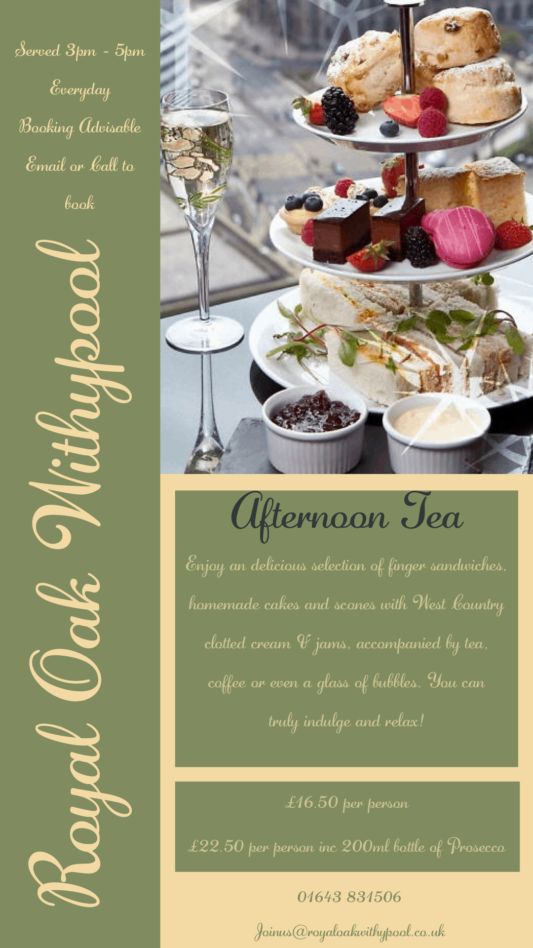 Afternoon Tea at The Royal Oak Withypool