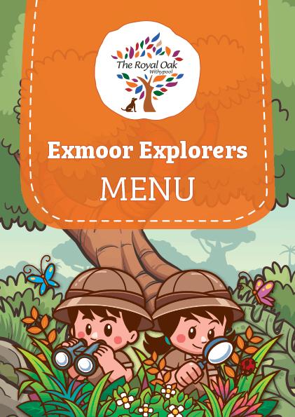 Exmoor explorers children menu